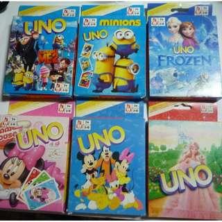 UNO cards Despicable Me Minions Frozen Minnie Mouse Mickey
