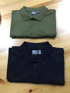 Asos jersey polo black/green