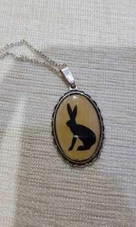 Alice in Wonderland theme necklace