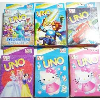UNO Cards Monsters University Cars Princess Hello Kitty
