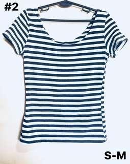 Black and White stripes Tops
