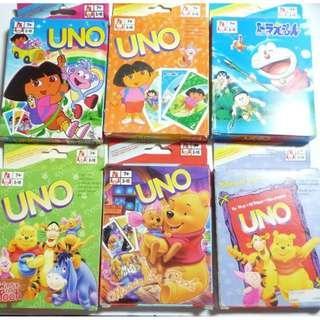 UNO Cards Doraemon Winnoie The Pooh Kids cards