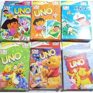 UNO Cards Doraemon Winnie The Pooh Kids cards
