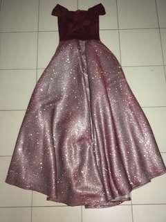 Maroon Prom dress