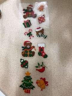 #年末感恩免費送  聖誕小熊🐻貼紙
