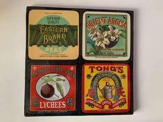 Vintage brands coasters (From Hong Kong)