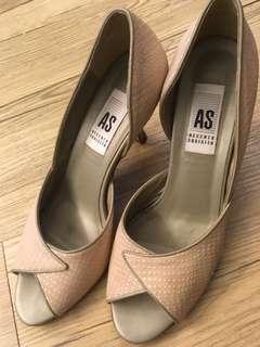 粉灰色AS中高跟鞋