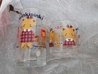 Winkipinki glass set  sanrio 1992