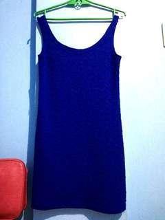 Navy Blue Body Con Dress