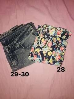 Grey and Floral Pants