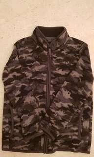 Grey Camouflage fleece jacket