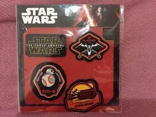 Star Wars Force Awakens Fridge Magnets Helmet Pen Bundle Set