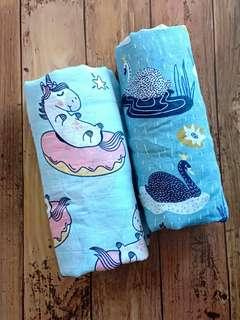 Baby Swaddles - Cotton Muslin