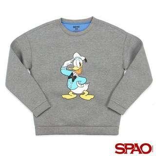 SPAO Donald Duck sweater 唐老鴨太空棉衞衣