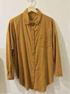 🚚 芥黃襯衫