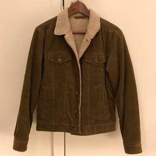 GU Men 短身啡色外套 Jacket Size S