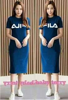 dress fila navy  Dress matt full babytery printing , LD96, Pjg 82 cm fit L  redy