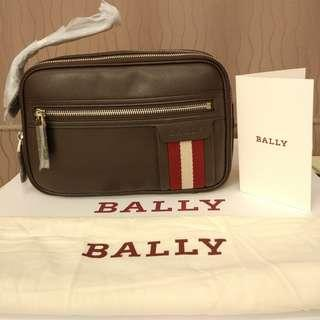 Bally Thames Clutch Pouch Coffee preloved