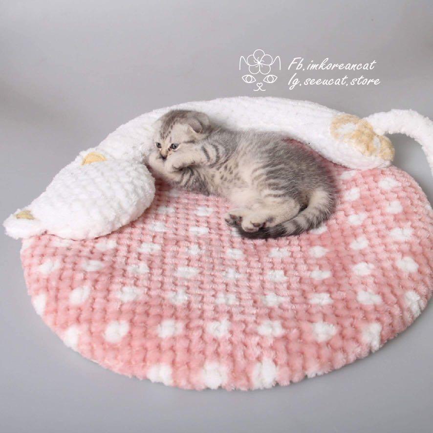 🎏寵物耐咬保溫毯床🐈2色可選