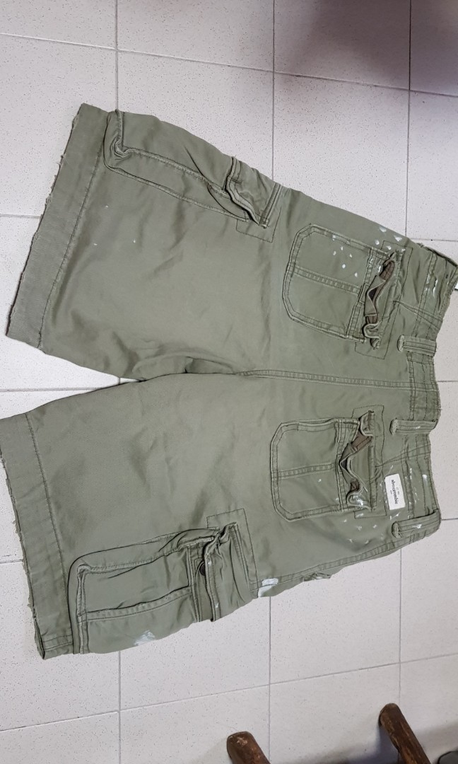 1254f98409b25 Abercrombie army cargo short(BNWT), Men's Fashion, Clothes, Bottoms ...
