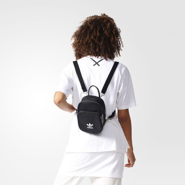c0ad6dafa5 Adidas Originals Mini Backpack Black, Women's Fashion, Bags ...