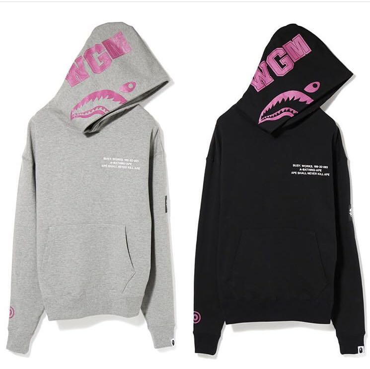 eba74966b14c Bape shark wide pullover hoodie