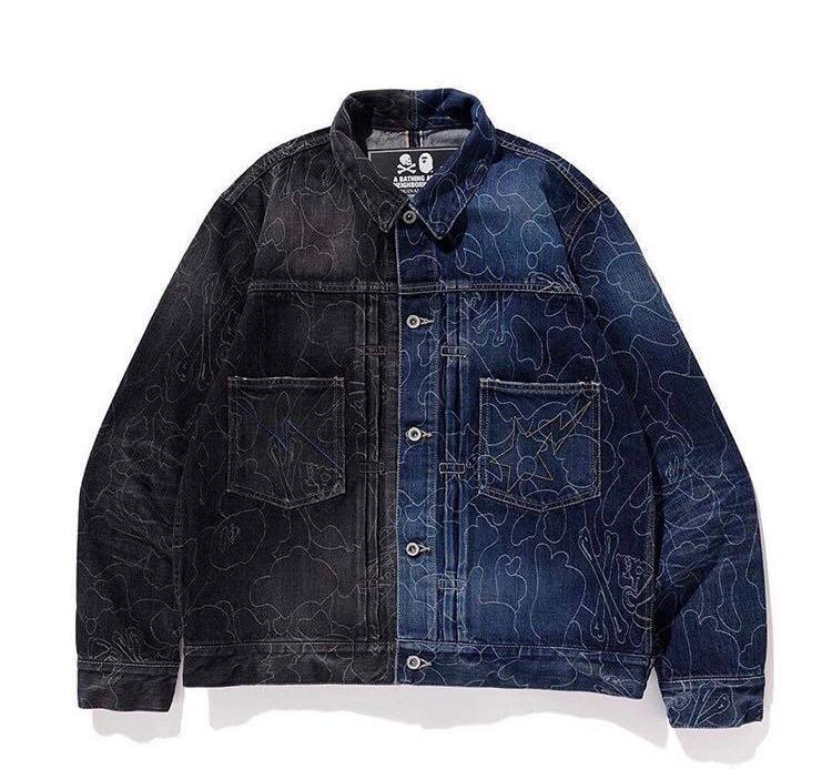 size 40 3406c 76f5d Bape x neighborhood denim jacket, Men's Fashion, Clothes ...