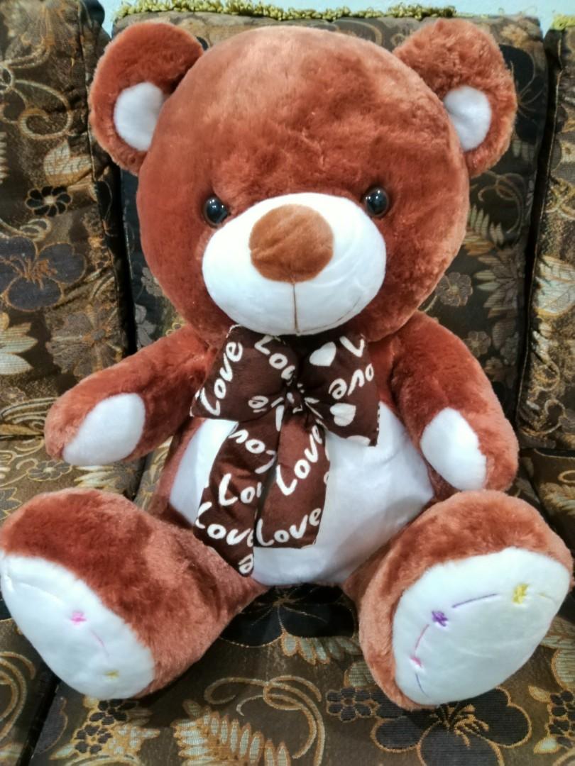 Hay Hay Chicken Stuffed Animal, Big Fluffy Teddy Bear 50cm Bayi Kanak Kanak Alat Mainan Dan Walkers Di Carousell