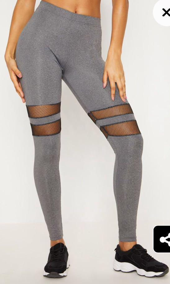 Charcoal Fishnet Leggings