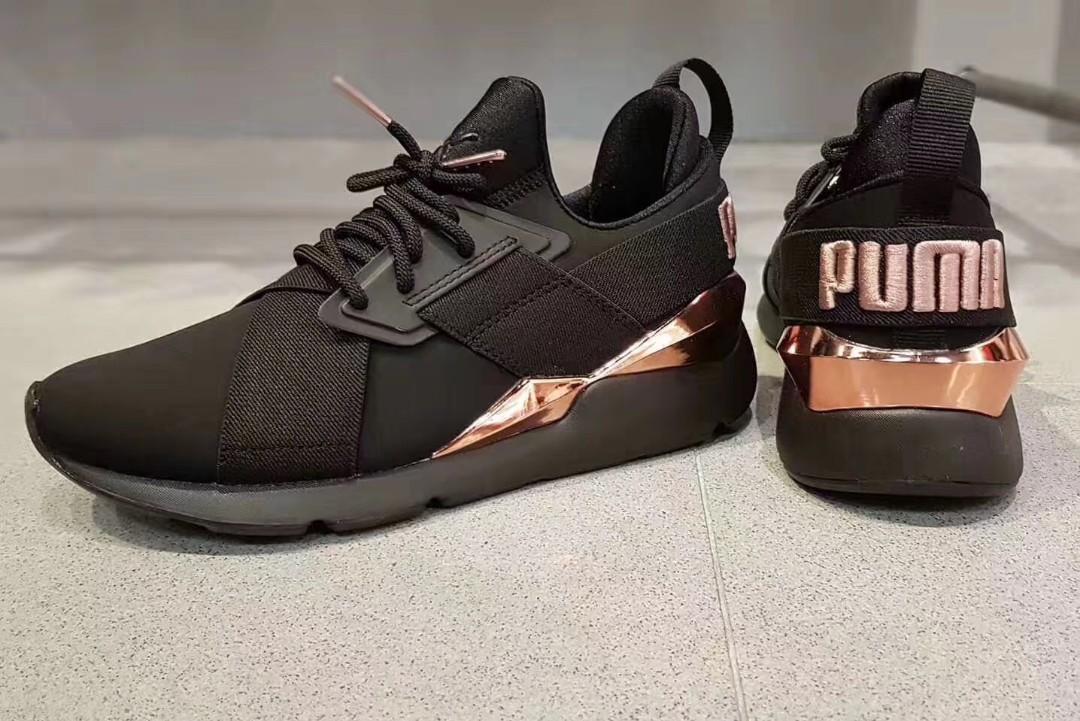 puma muse metal athletic shoe