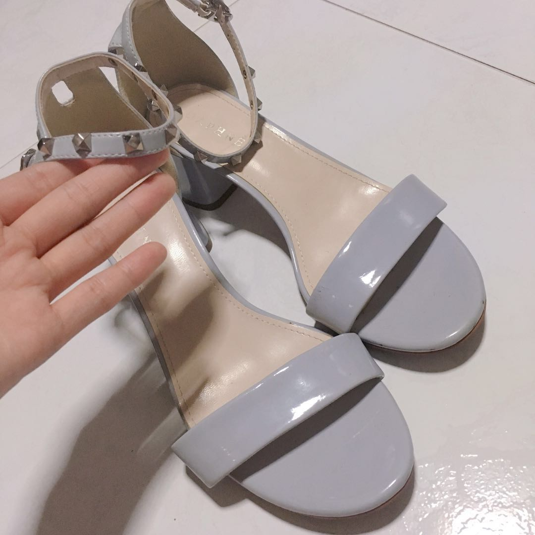 cf4774f02a2 DAPHNE studded strappy block heels   sandals