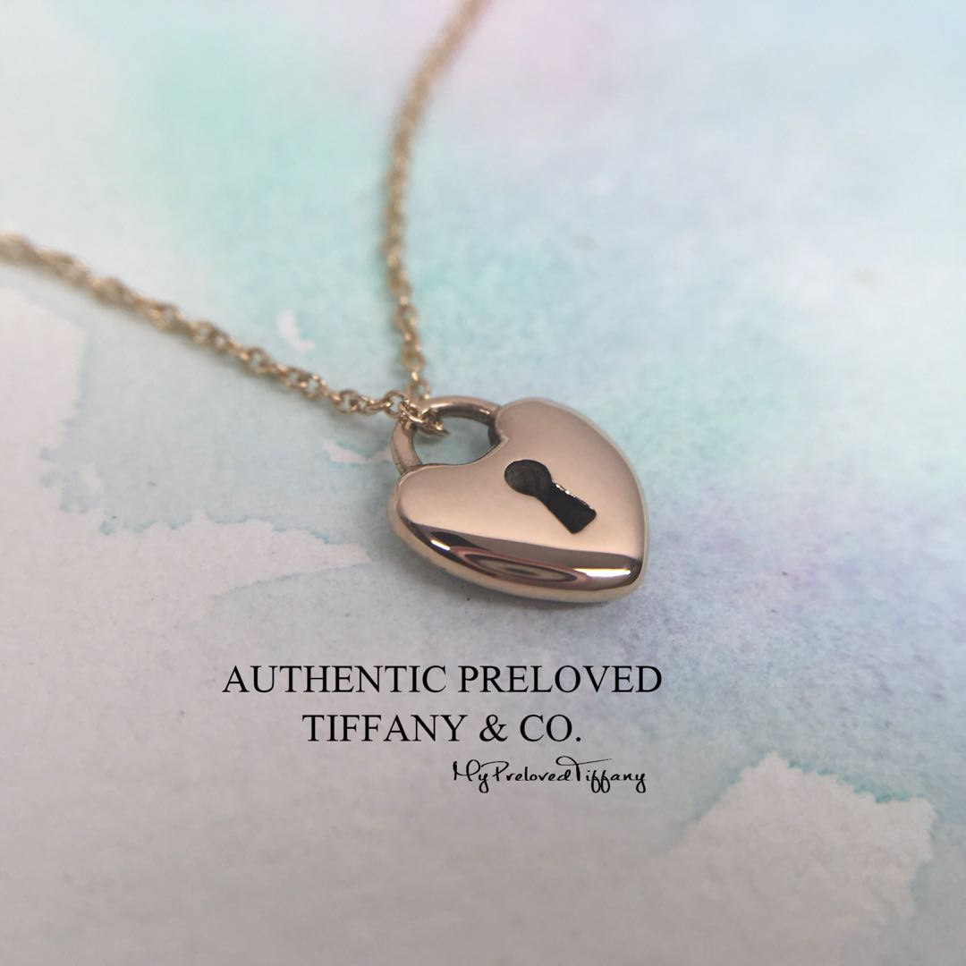 8fc214583 Excellent Authentic Tiffany & Co. Mini Heart Lock Rose Gold Pendant Necklace,  Women's Fashion, Jewellery, Necklaces on Carousell