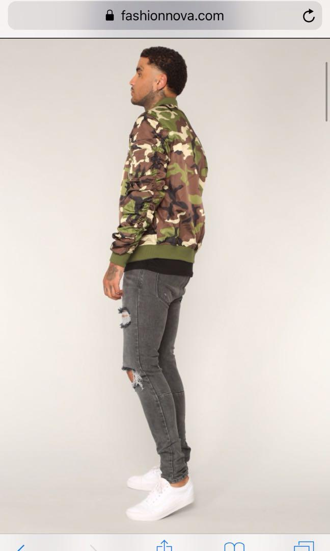 Fashion Nova Fenrir Men's Ripped Skinny Jeans - Grey