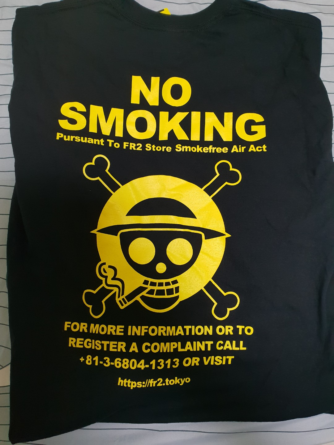 69c303611ff4 FR2 x One Piece Smoking Kills L S ( Black yellow)