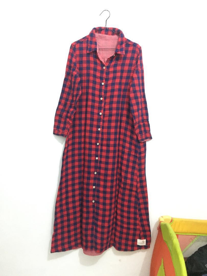 Gamis Flanel 2in1 Japan Import Women S Fashion Muslim Fashion