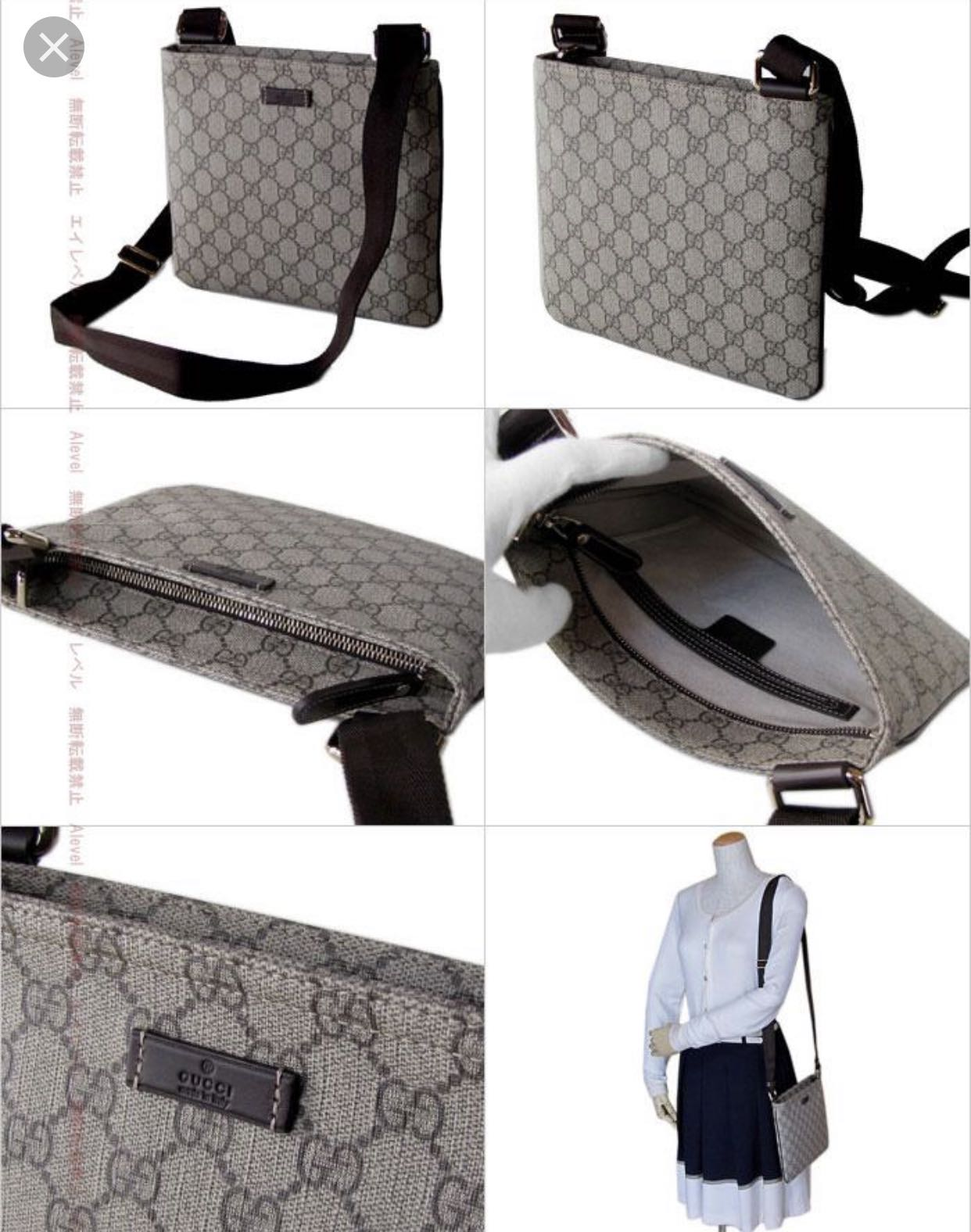 5a5db4d9049b Gucci messenger sling bag (grey), Luxury, Bags & Wallets, Sling Bags ...