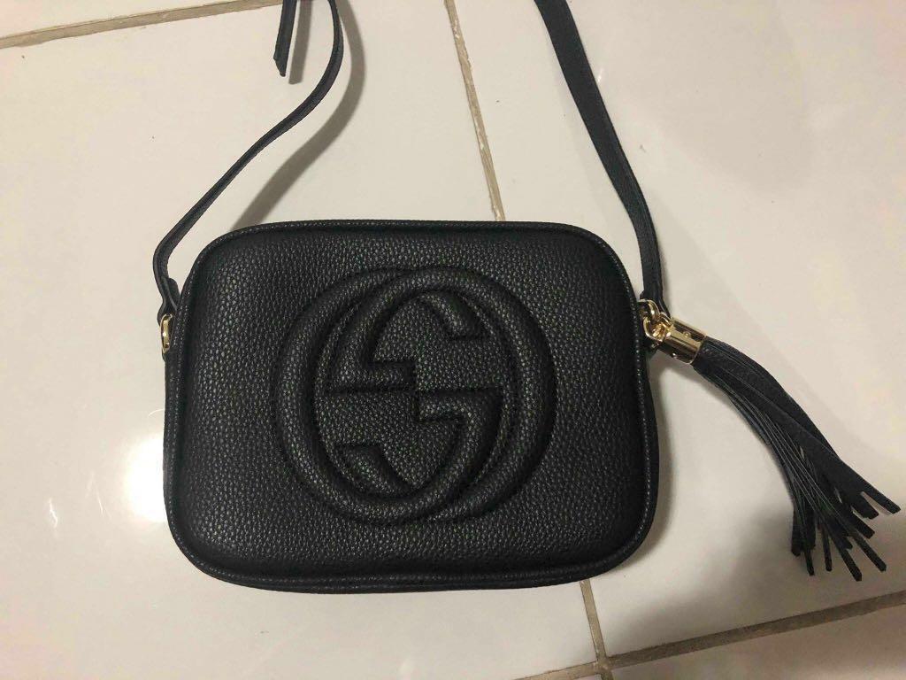 939110989c6 Gucci soho black leather disco bag