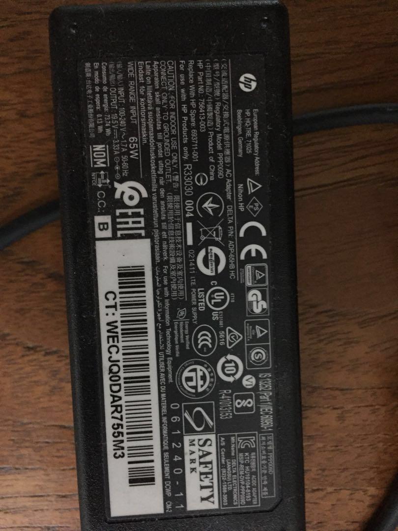 HP Elitebook 840 laptop Charger part no 756413