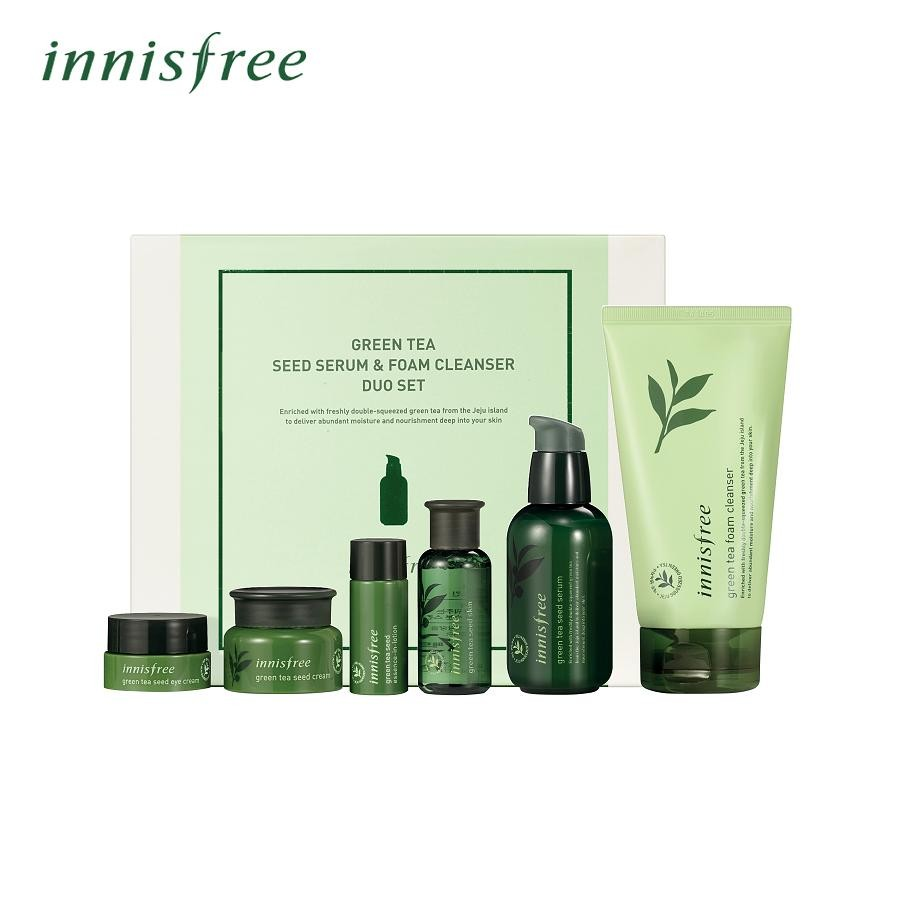 363a6ddc9c5 Innisfree Green Tea Seed Serum   foam cleanser duo set