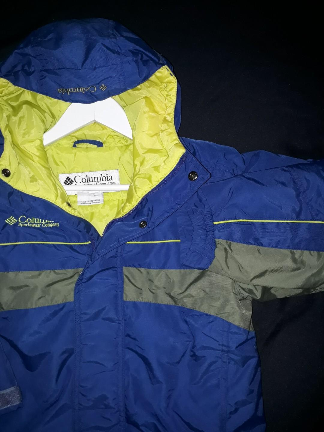Jacket parasut columbia kids