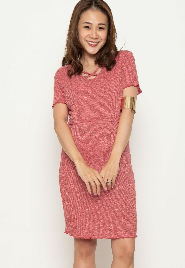 8ccdf164266e0 Jumpeatcry mothercot v neck crossover nursing dress, Babies & Kids ...