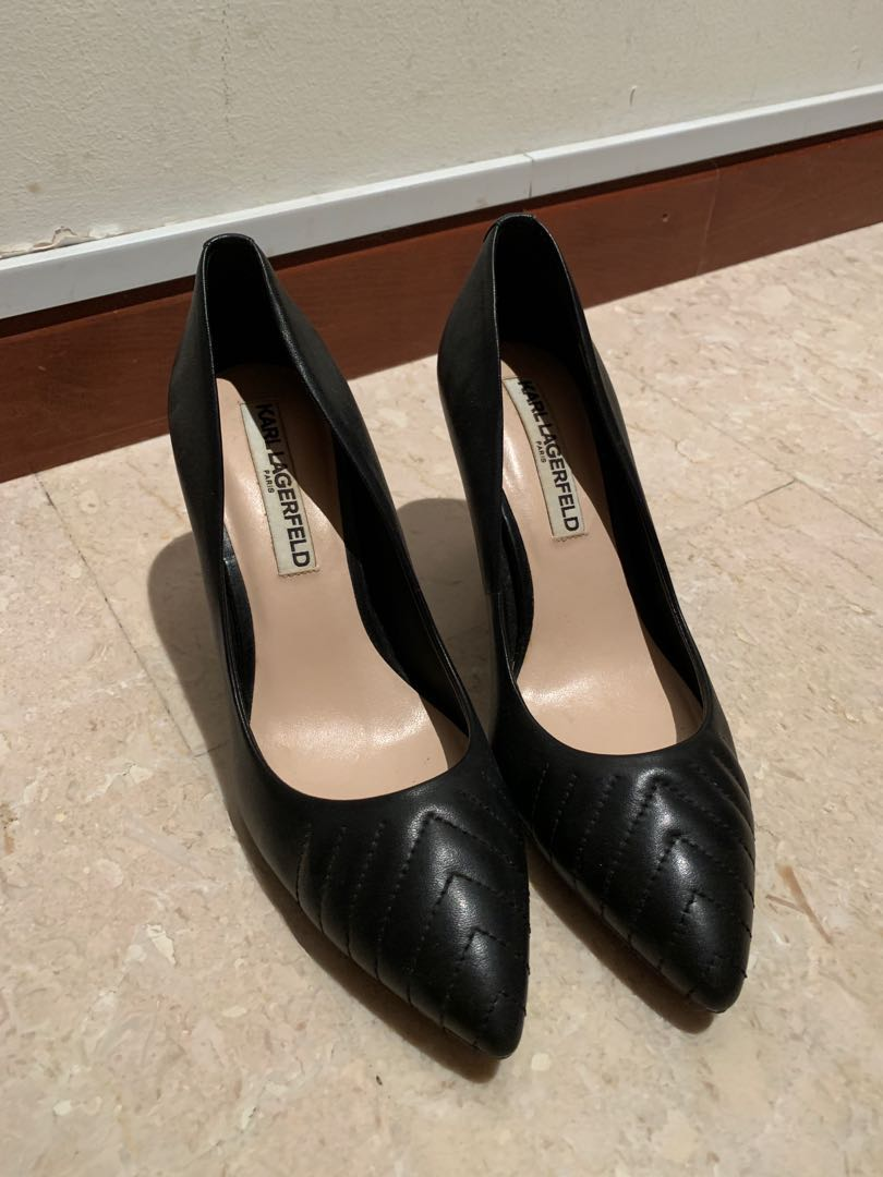 429810aac3f Karl Lagerfeld Black Heels