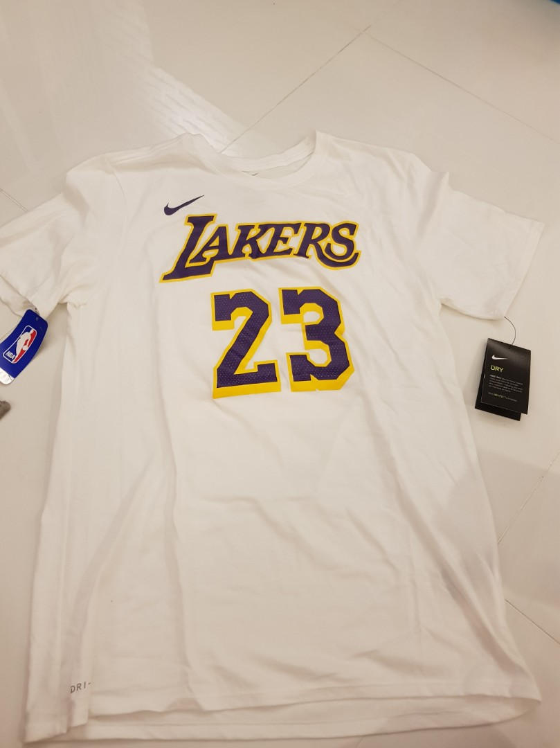 best sneakers 4aeca 3dd1e Lebron Lakers Athletic Nike Tee ( from Staples Centre LA Team Store)