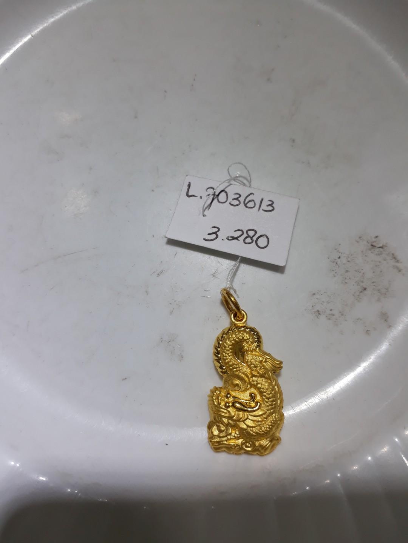 Liontin Emas 24k Naga Pipih Luxury Accessories On Carousell