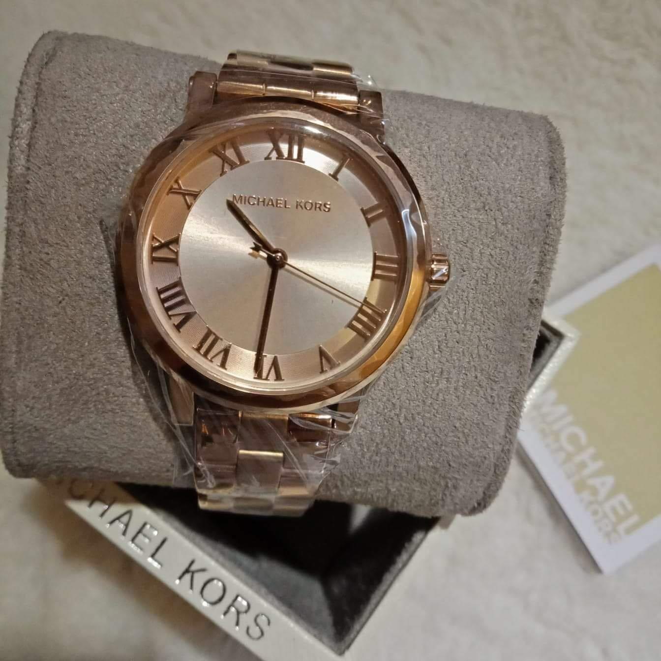 32603c2612a MK Norie Series in Rose Gold Tone Watch