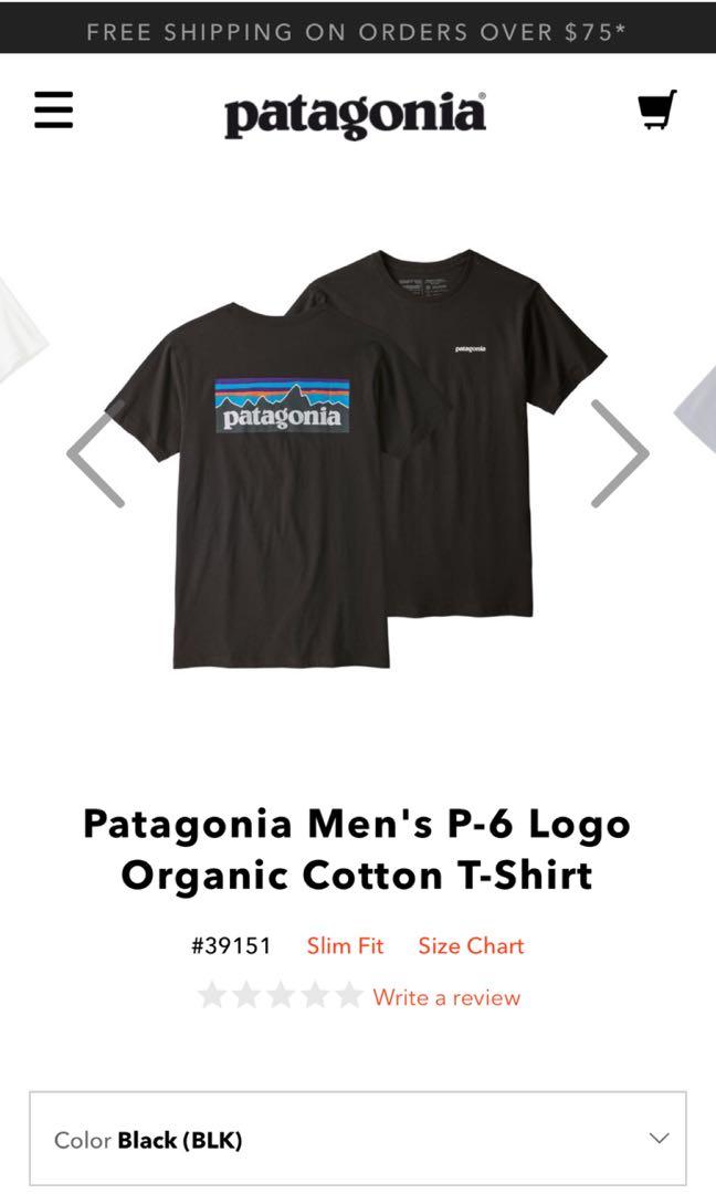 303a03478 Patagonia Men's P-6 Logo Organic Cotton T-Shirt, Men's Fashion ...