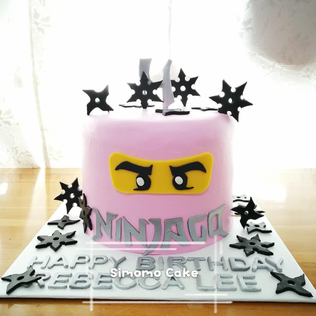 Pink ninja cake, ninjago cake (FREE DELIVERY), Food & Drinks