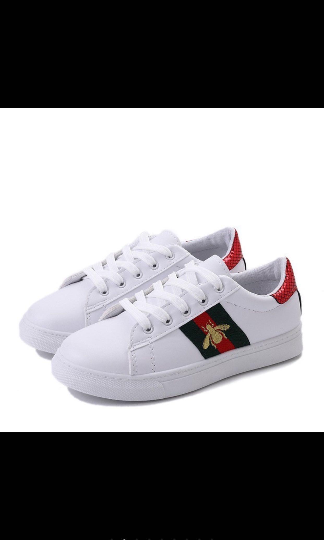 20c5e433ad PO) Korean Fashion White Women Embroidery Casual Sneakers Shoes ...