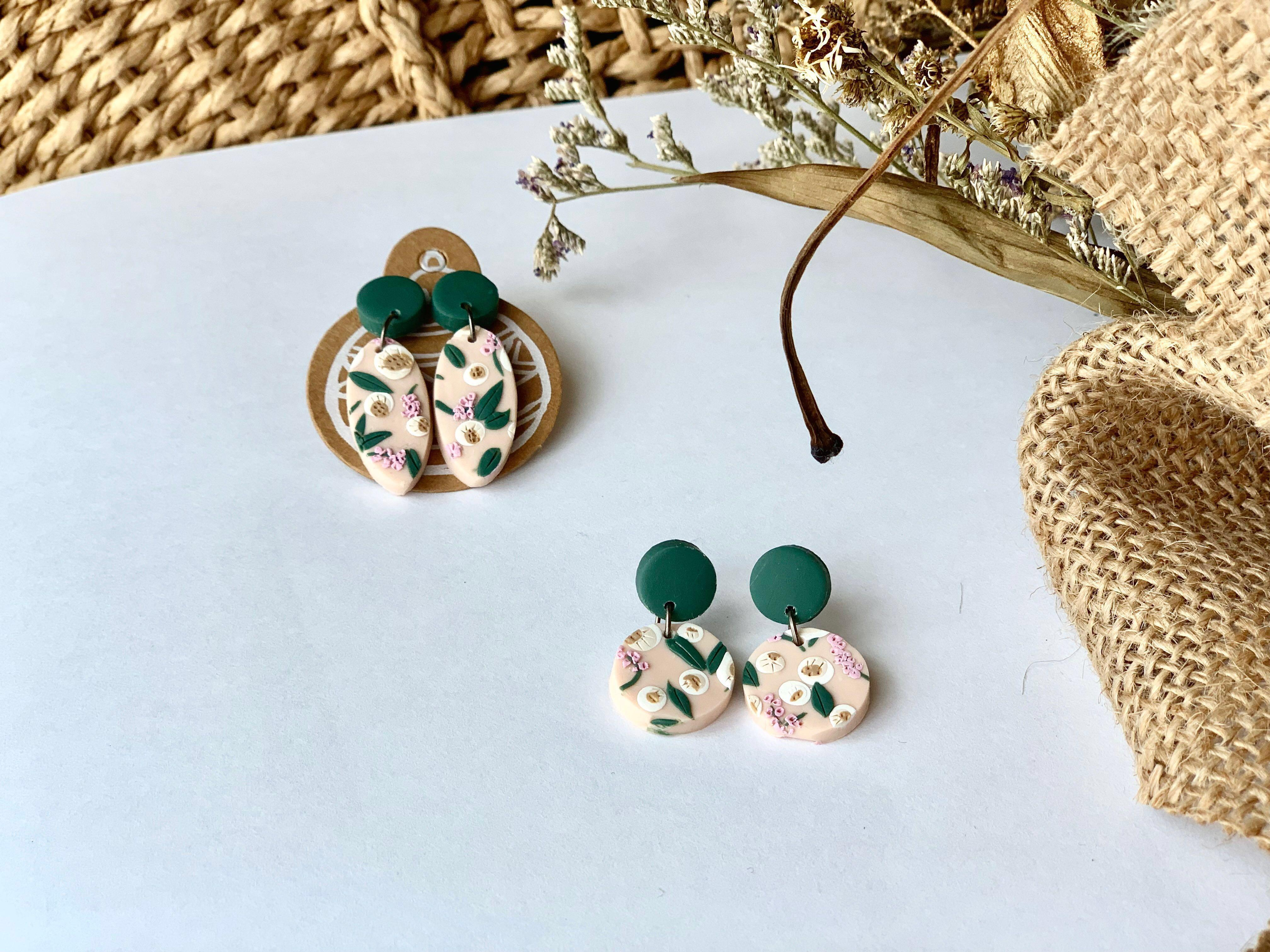 Polymer Clay Earrings - Blossom