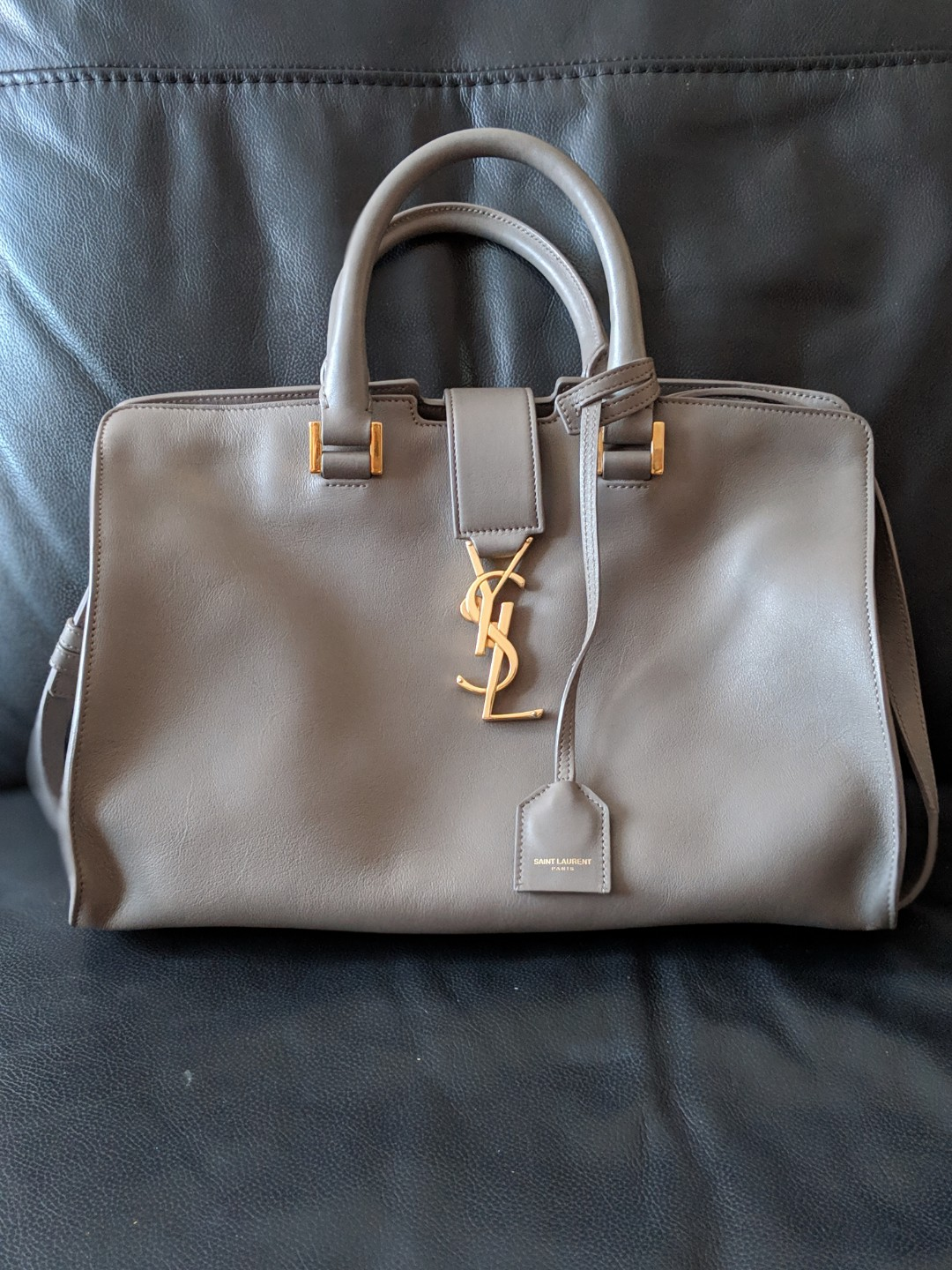 09e20791941 Saint Laurent YSL Cabas small (light grey), Luxury, Bags & Wallets ...